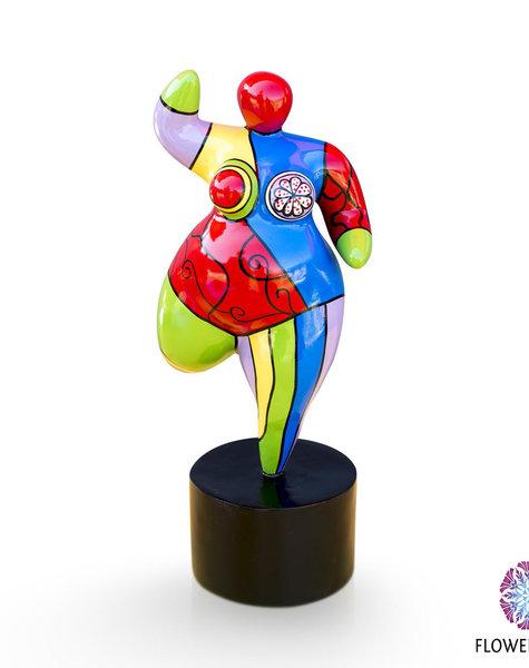 Dikke dame beeldje Dolly - H21/ H25/ H38 cm