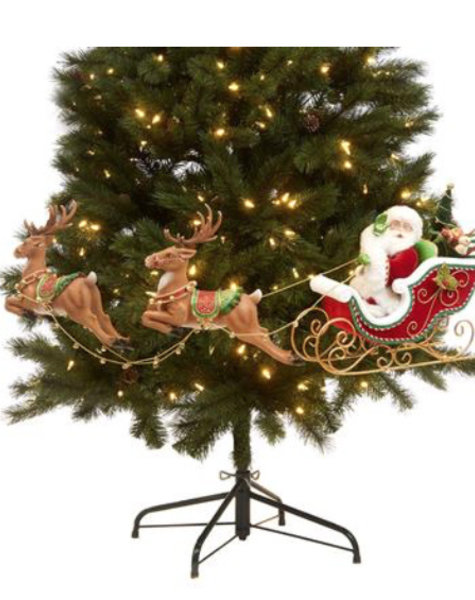 Goodwill Santa in sleigh - H30 cm