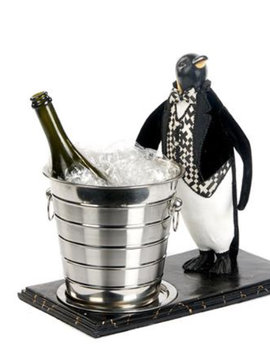 Goodwill Champagne cooler penguin