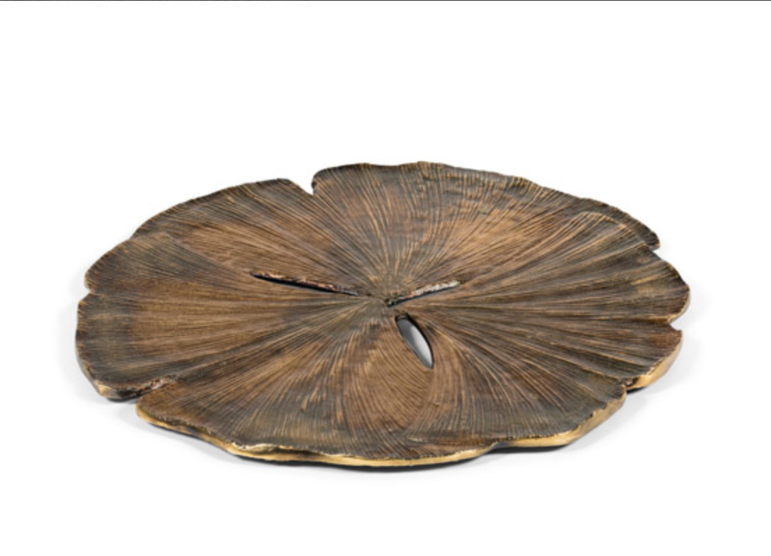 Gold leaf plate - D61 cm