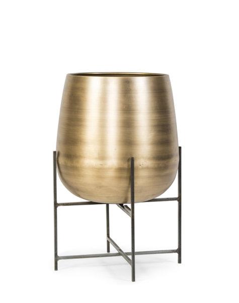 Bloempot brass antique - H66 cm