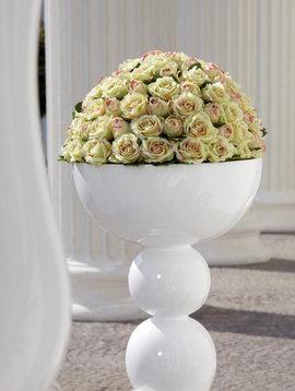 Große Vase Weiß