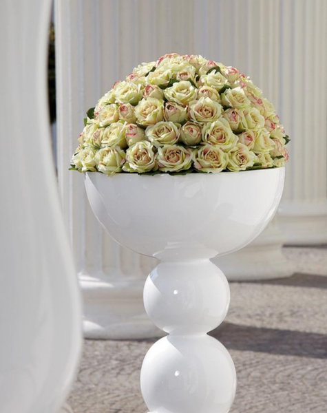 Große Vase Weiß - H137 cm