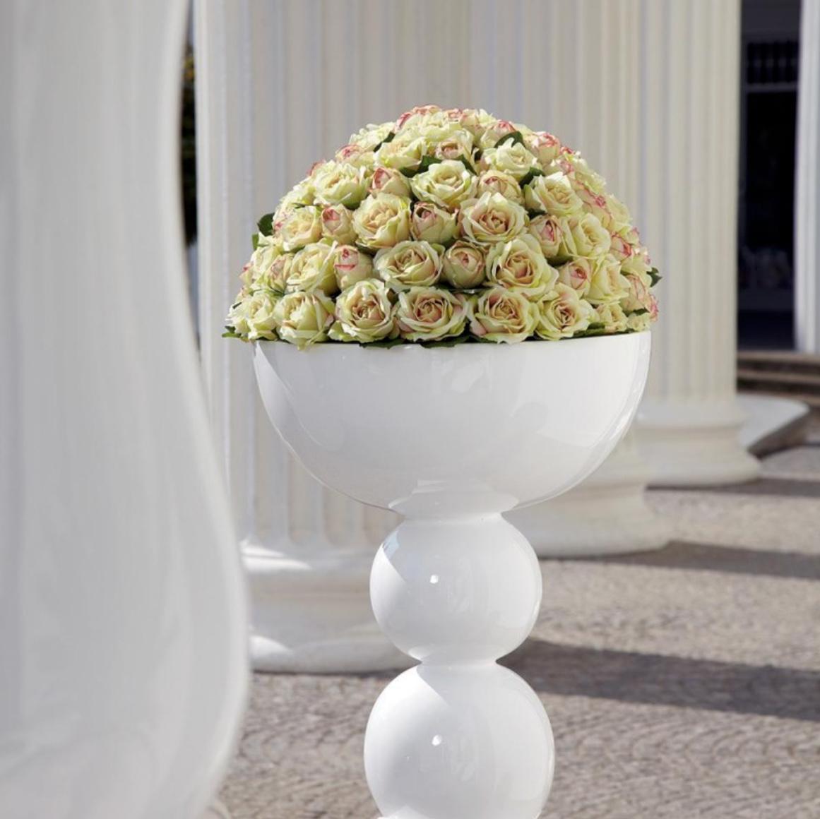 Witte vazen groot - H137 cm