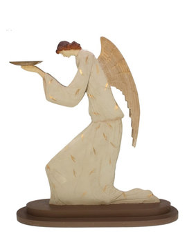Christmas angel with plate