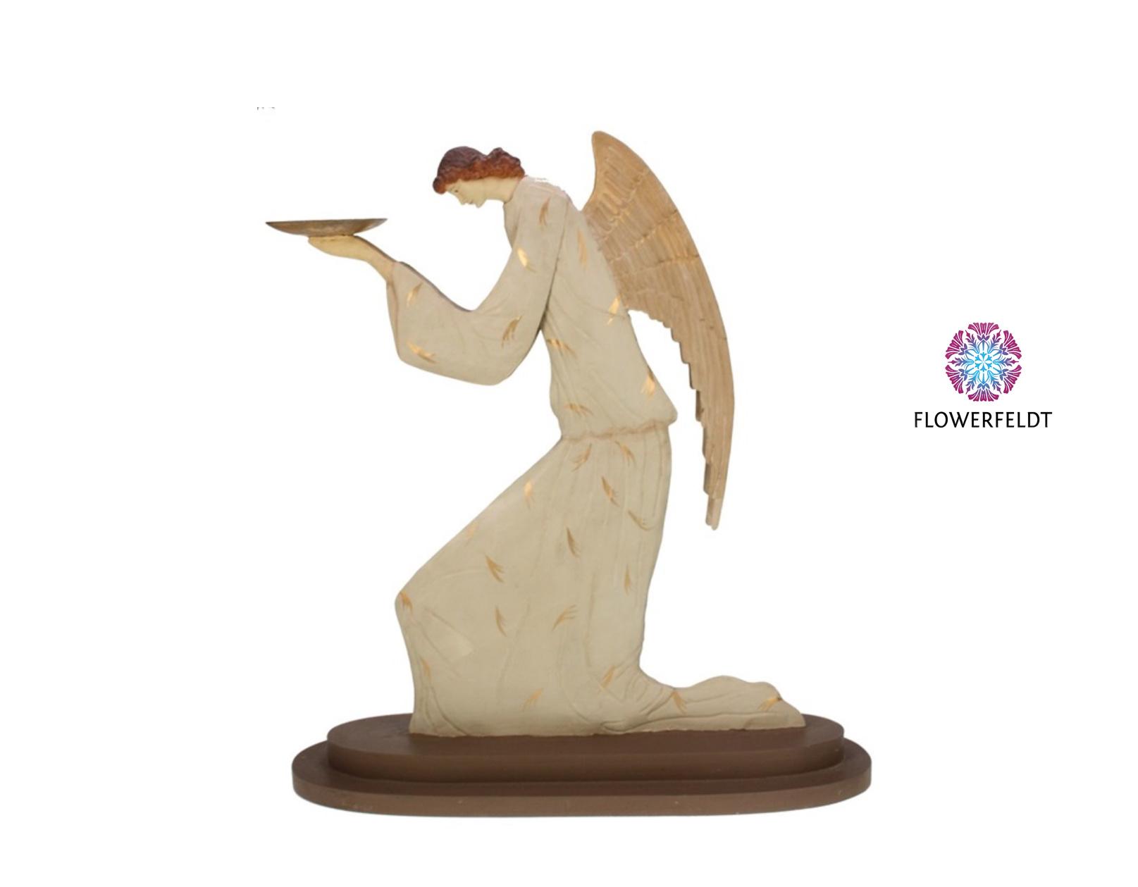 Engel met schaal knielend - H54,5 cm