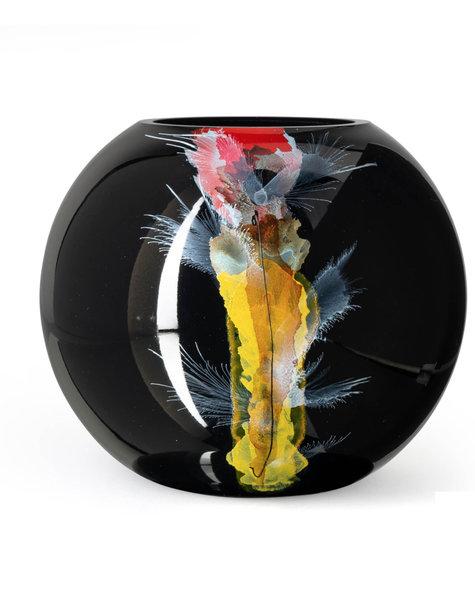 Fidrio Grote zwarte vazen Nova - D25 cm