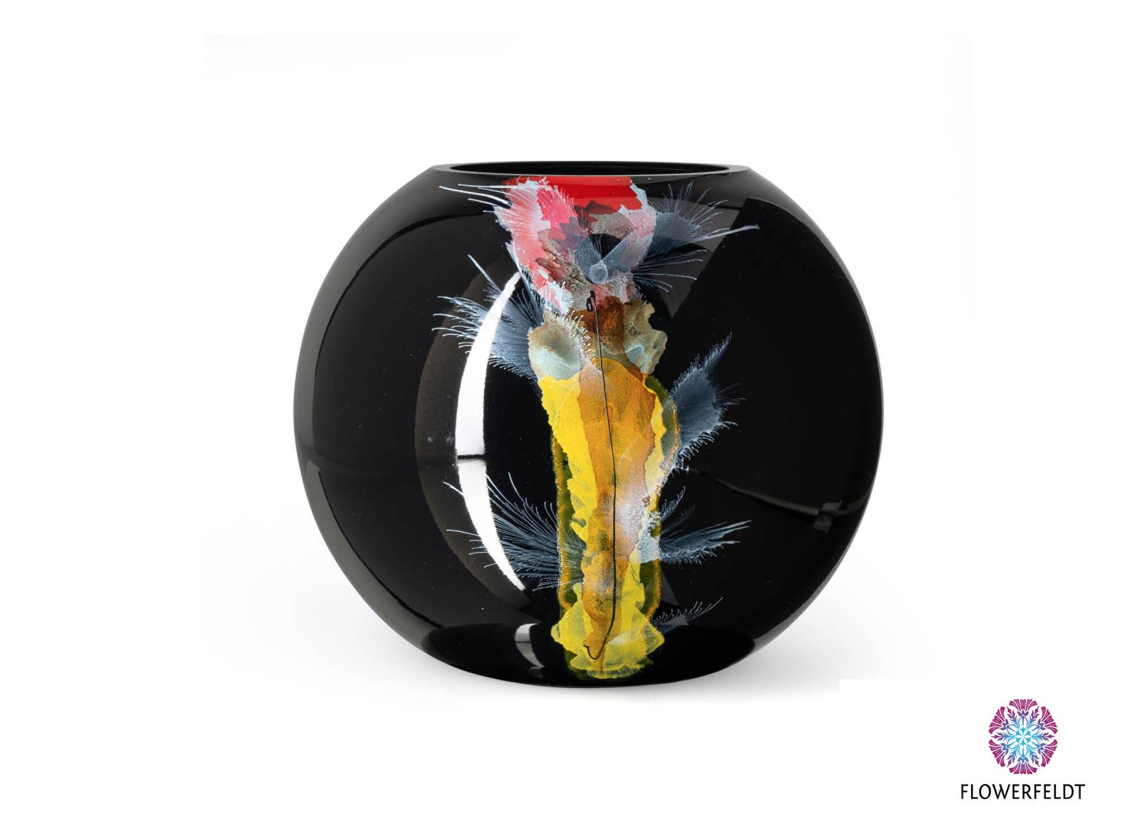 Fidrio Large black vase Nova - D25 cm