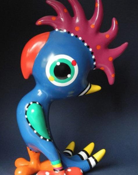 Beeld vogel Cockatoo Pex - H30 cm