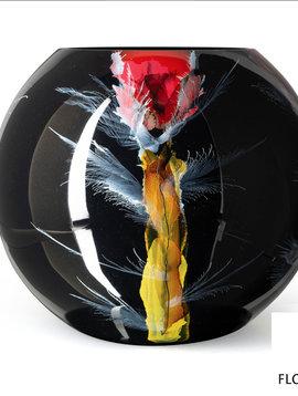 Fidrio Große Schwarze Vase Nova