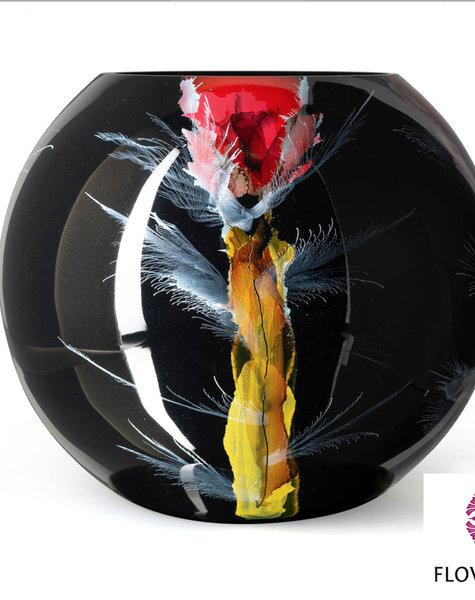 Fidrio Black glass vase Nova - D40 cm