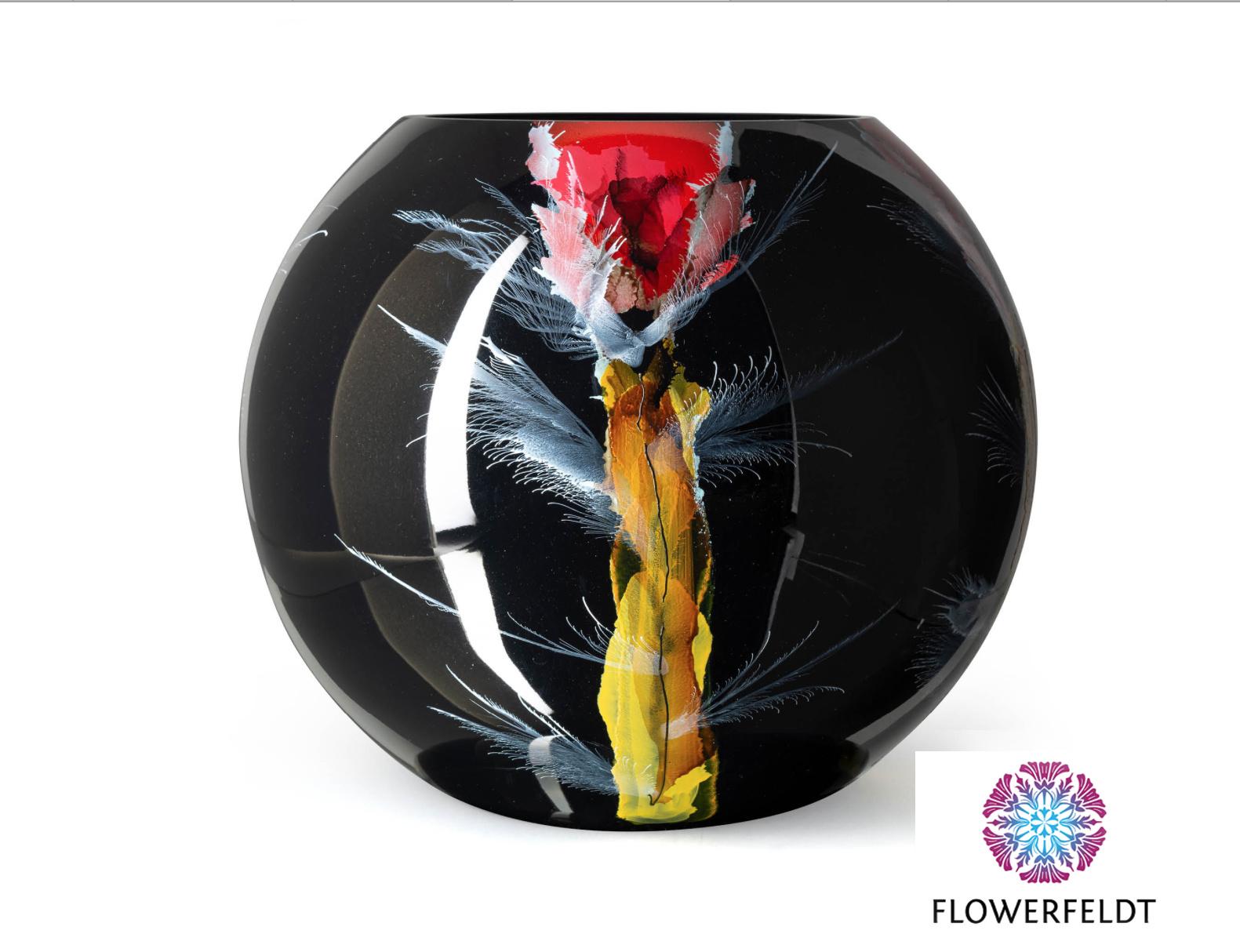 Fidrio Zwarte vaas groot Nova - D40 cm