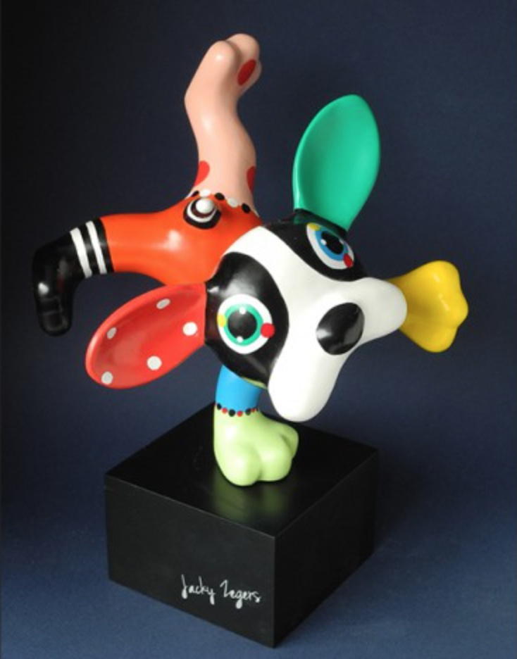 Beeld hond Dog Boris - H26,5 cm