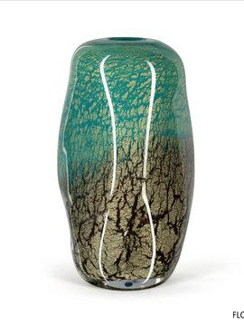 Fidrio Groene glazen vaas Floral Fiji