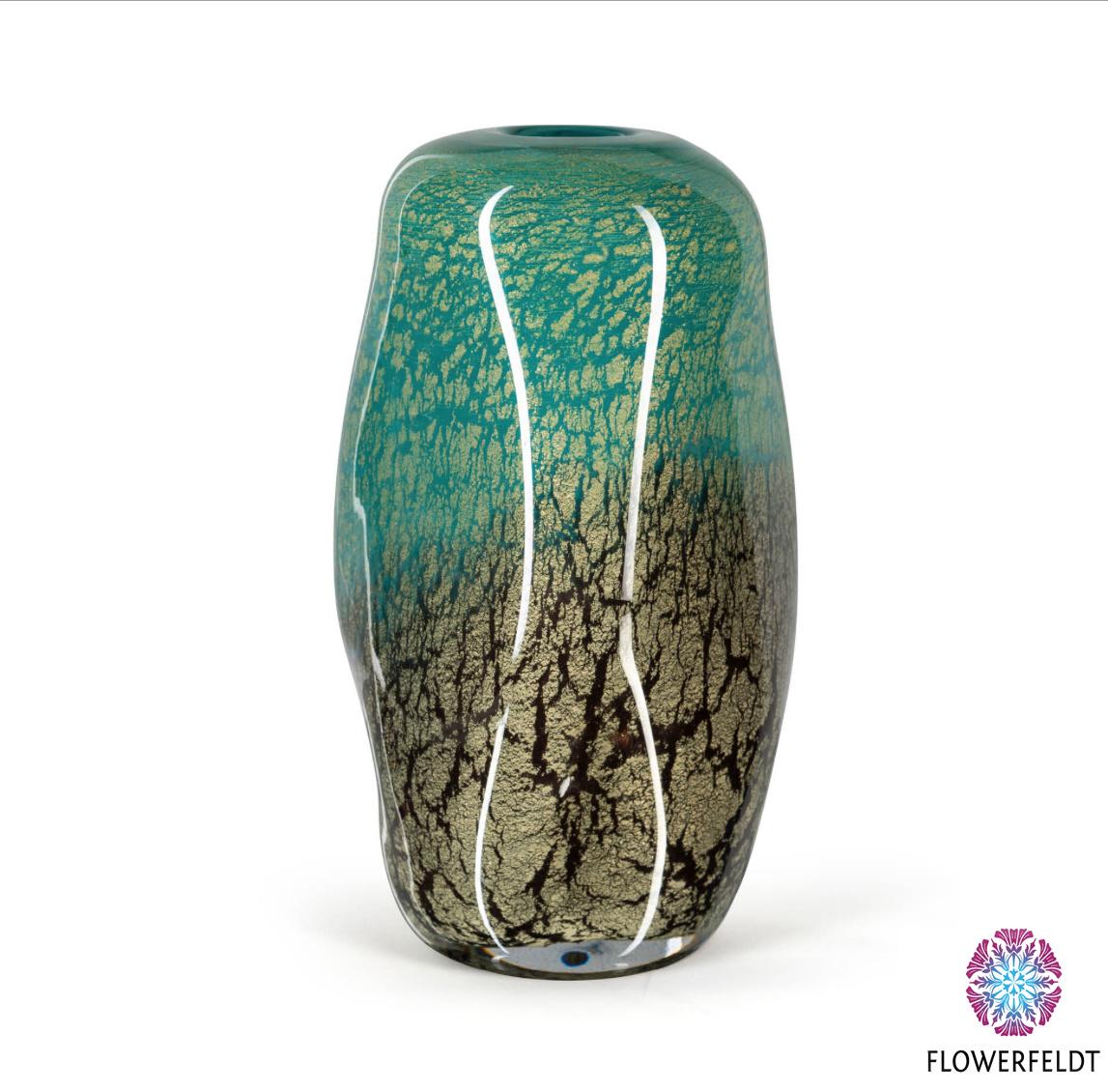 Fidrio Groene glazen vaas Floral Fiji - H30 cm