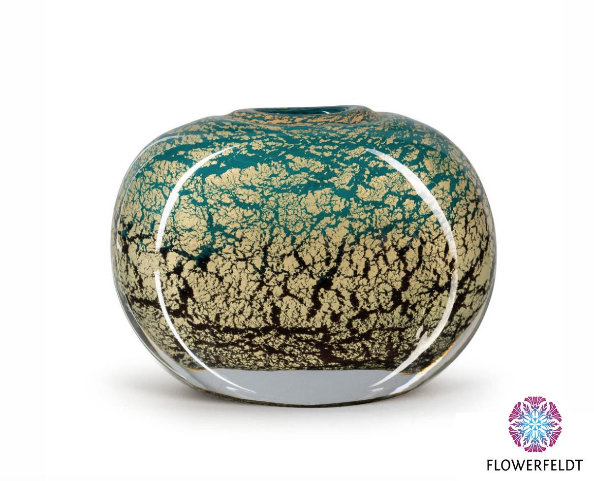 Fidrio Green vase Coco Fiji - H21 cm