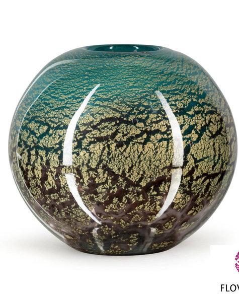 Fidrio Green ball vase Fiji - D22 cm
