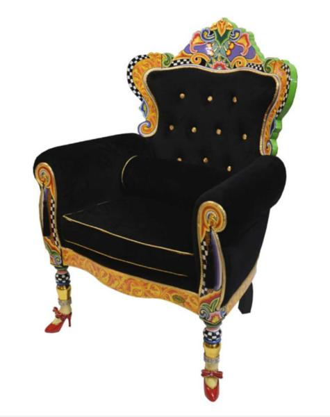 Black armchair crazy versailles - H123 cm
