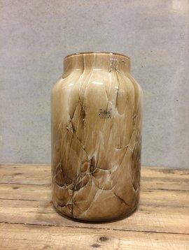Fidrio Braune Vase Bloom Marmi XL