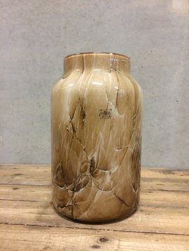 Fidrio Bruine vaas Bloom Marmi XL