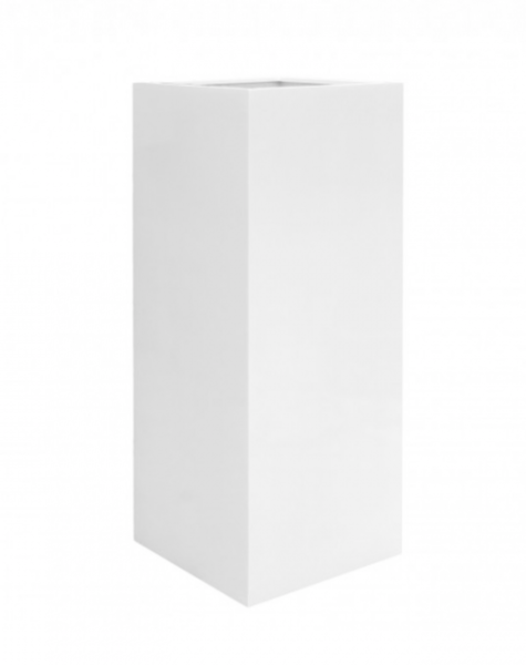 Large white pot Aspen - H120 cm