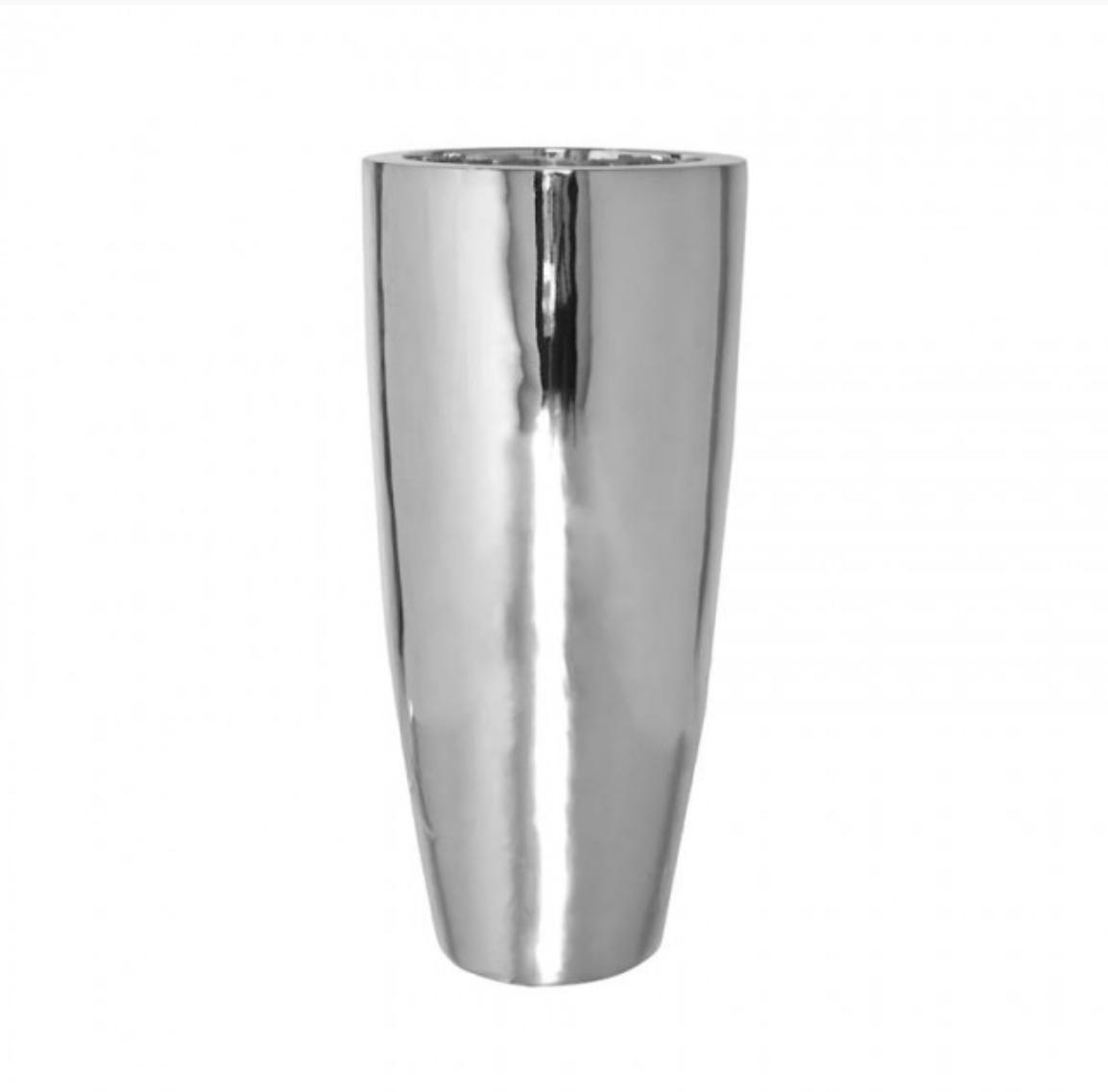 Silver vase Jaipur - H100 cm