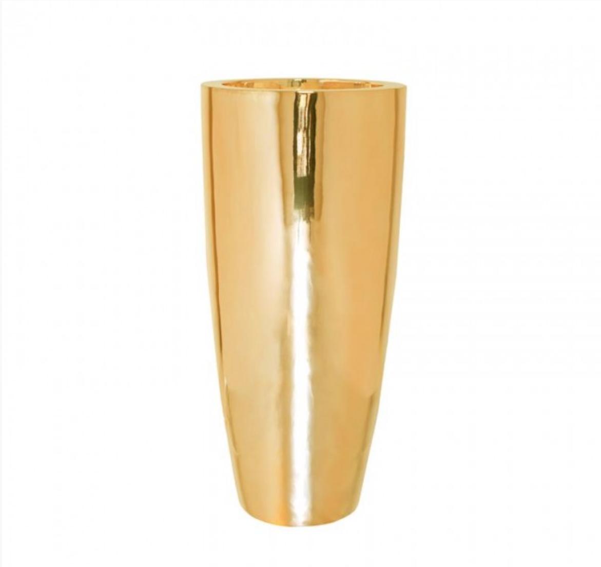 Golden flower pot Jaipur - H100 cm