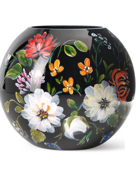 Fidrio Schwarze Vase Royal Flowers