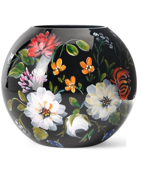 Fidrio Black vase Royal Flowers - D40 cm