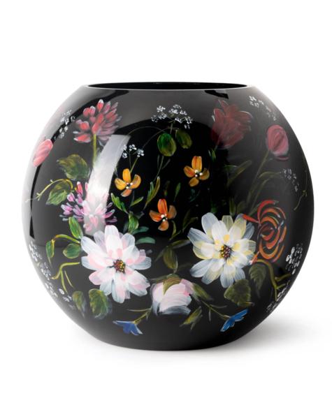 Fidrio Black vases Royal Flowers - D25 cm