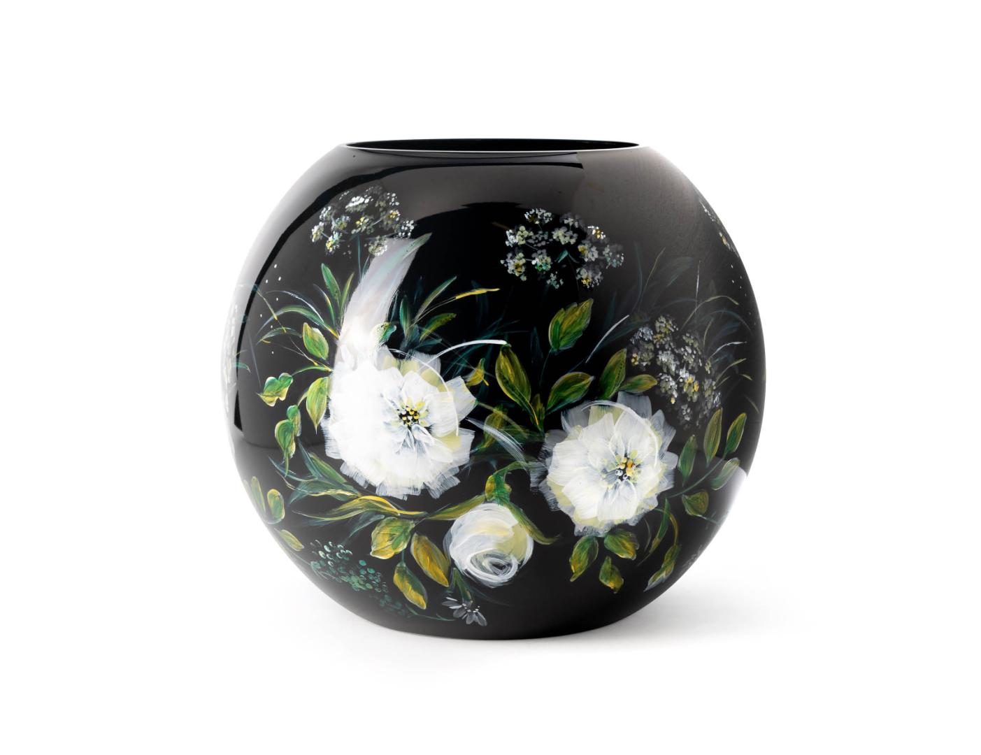 Fidrio Vase with flowers - D25 cm