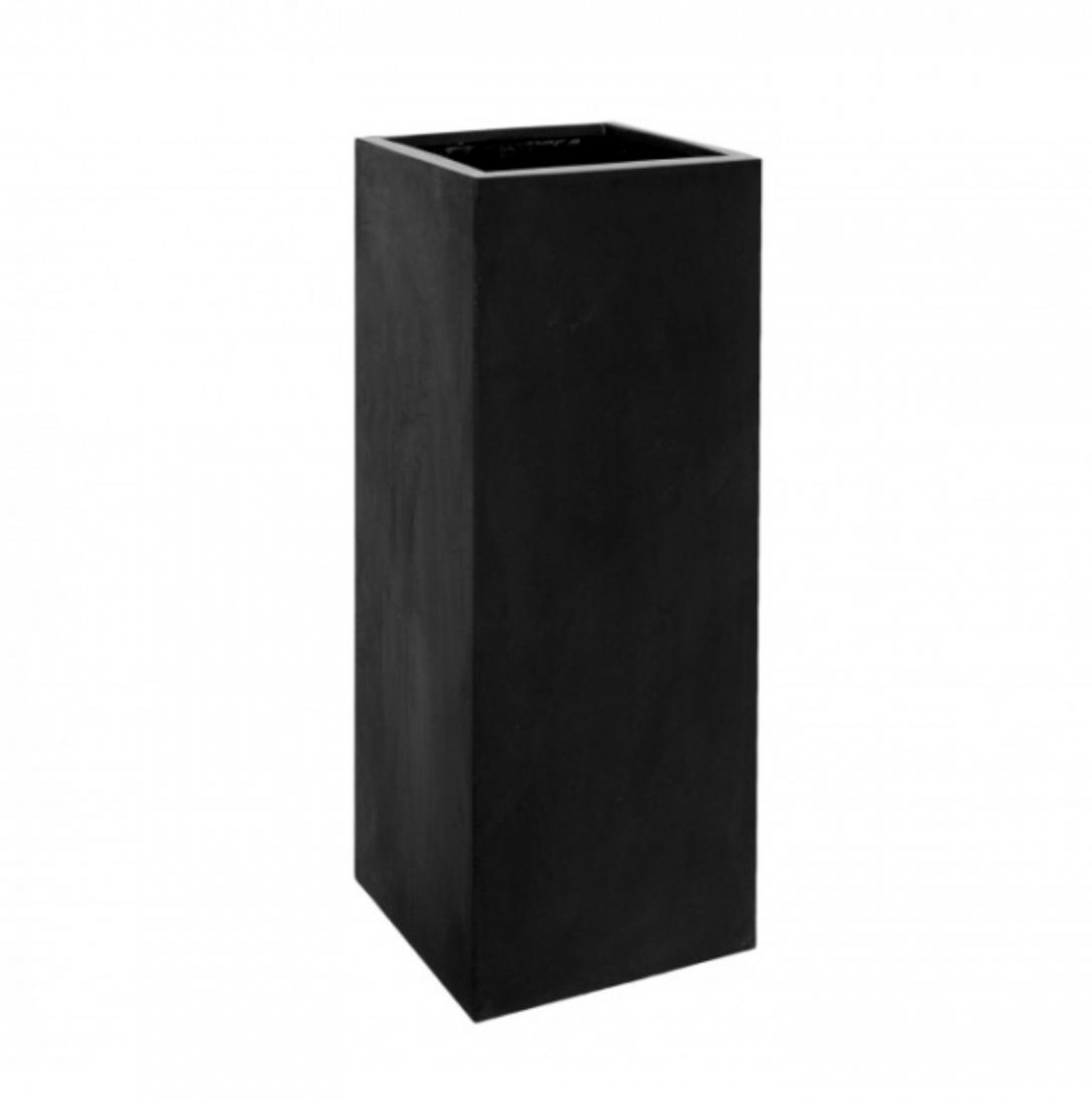 Black planter Manhattan - H120 cm