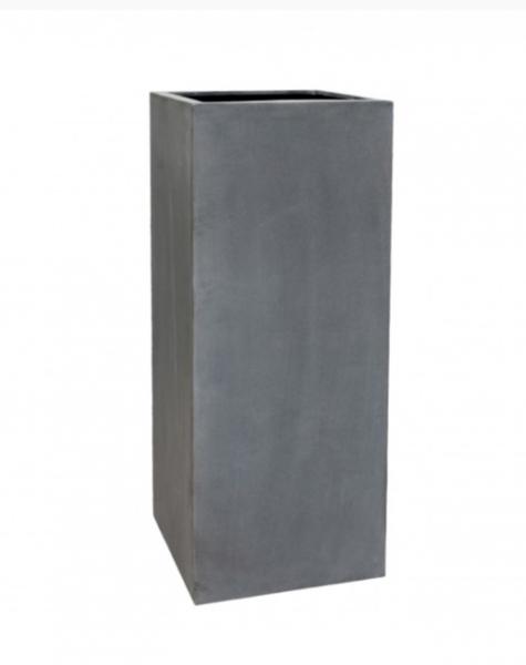 Gray planter Manhattan - H120 cm