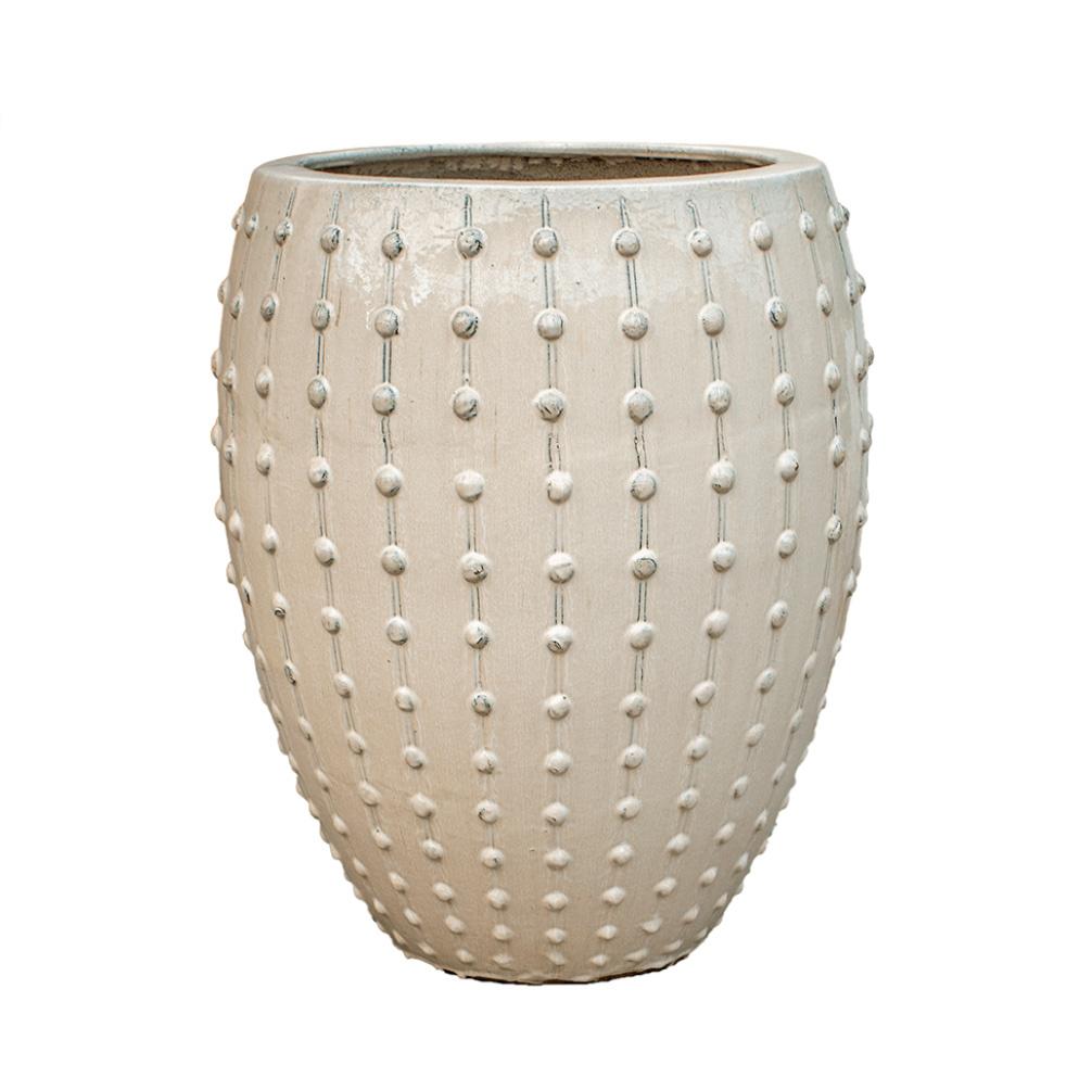 Grote witte potten Davos - H80 cm