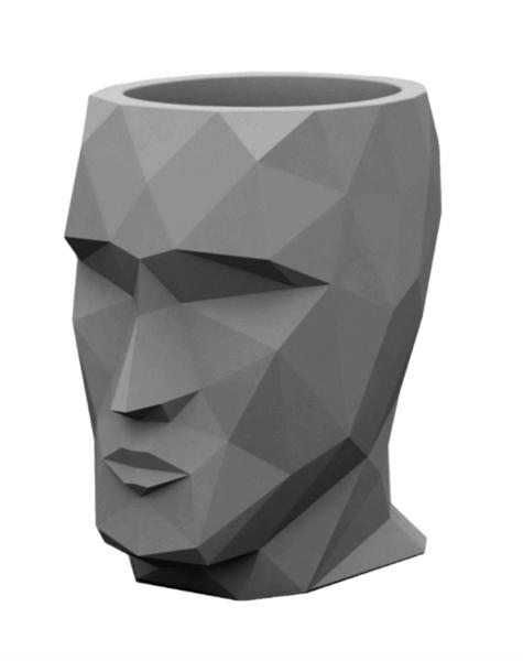 Bloempotten grijs Adam - H42 cm