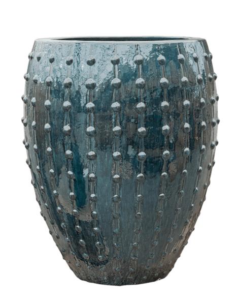 Blumentopf blau Portofino - H80 cm