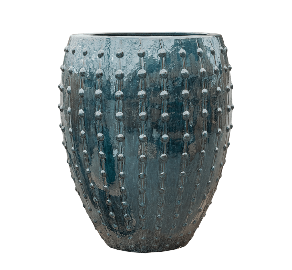 Bloempotten blauw Portofino - H80 cm
