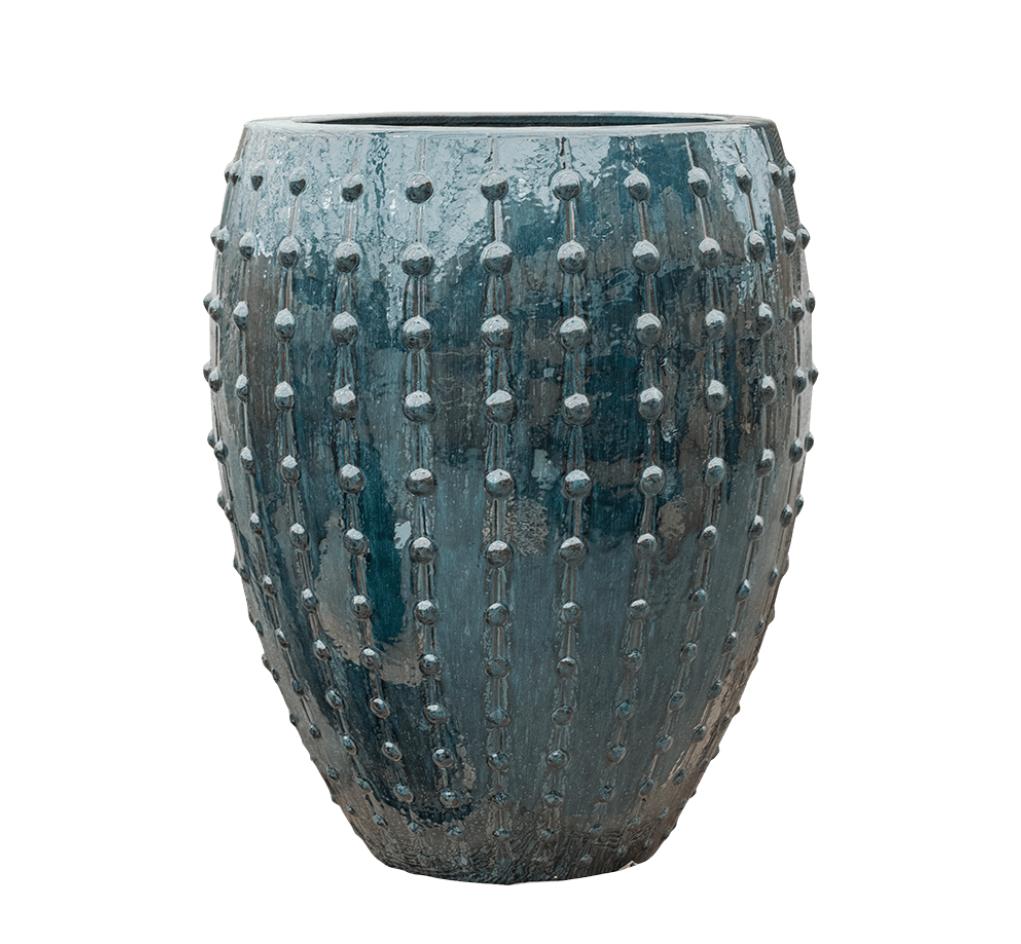 Blue planter Portofino - H80 cm