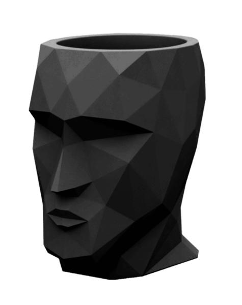 Black planter Adam - H42 cm