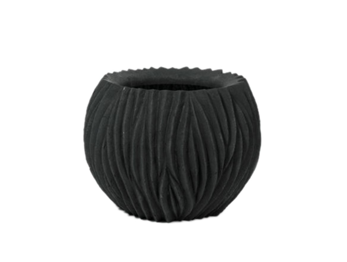 Black flower pot Arran - D120 cm