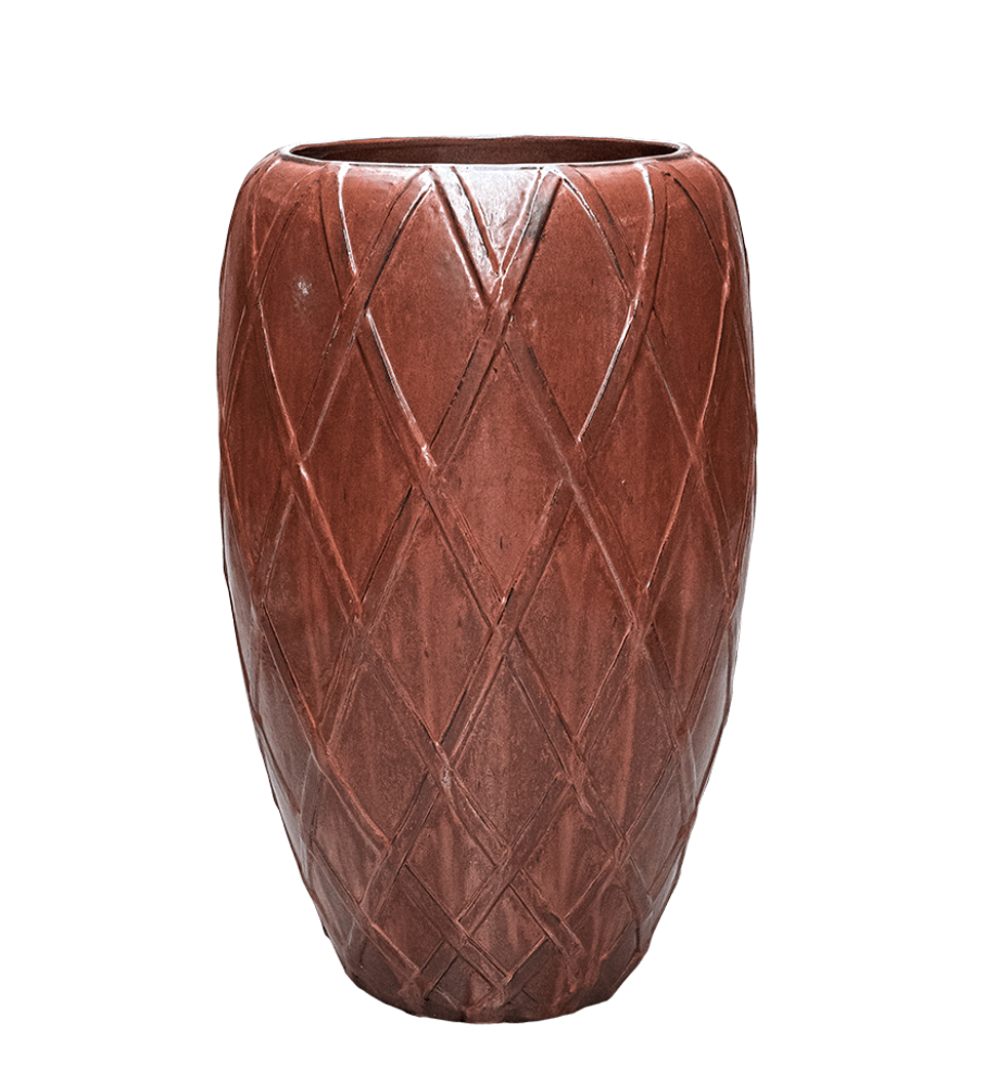 Red plant pot Petra - H81 cm