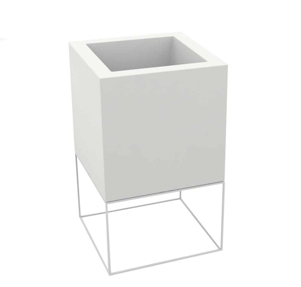 Witte potten Nice - H100 cm