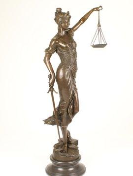 Bronze sculpture Lady Justice