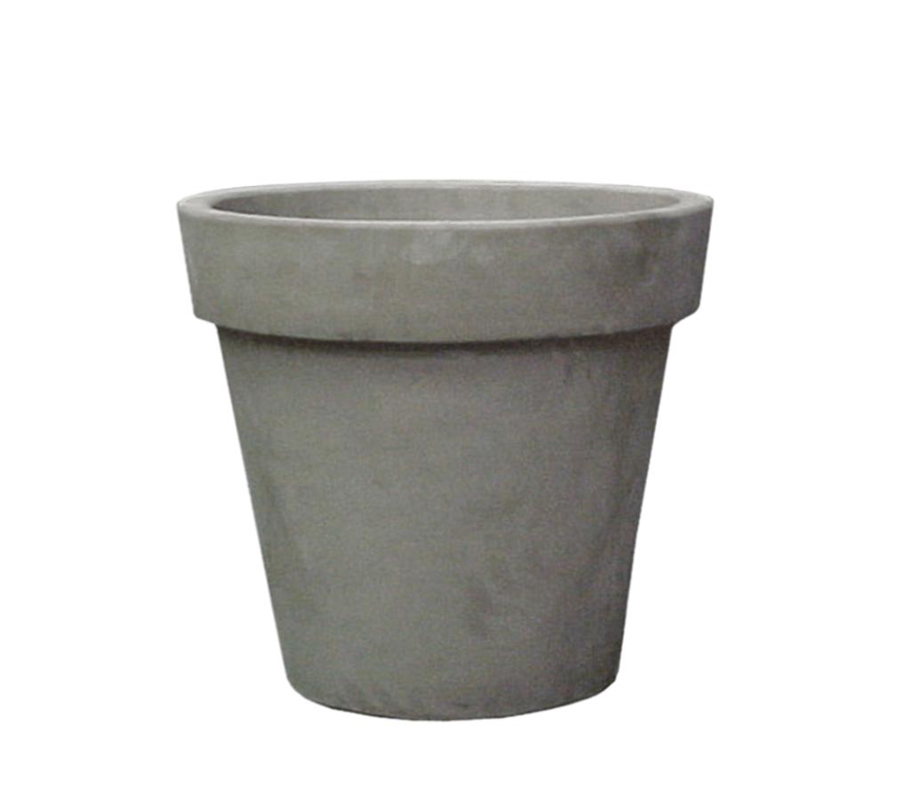 Anthracite planter Chicago - D120 cm