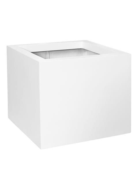 White planter Ibiza - L70 x B70 cm