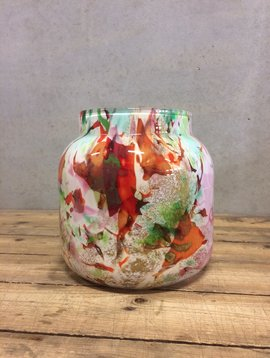 Fidrio Vase bloom small mixed colors