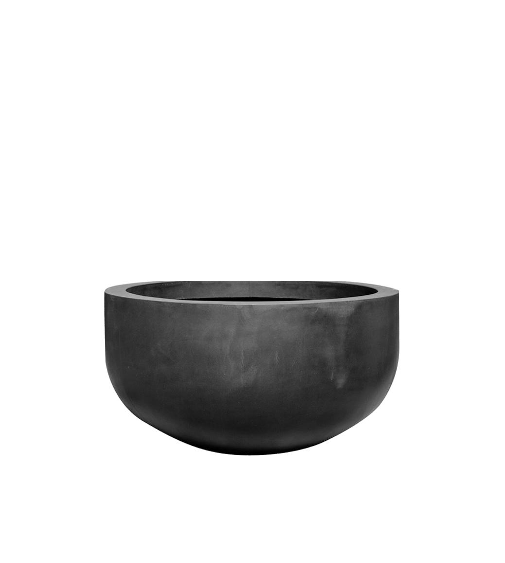 Black plant pot Manhattan - D128 cm