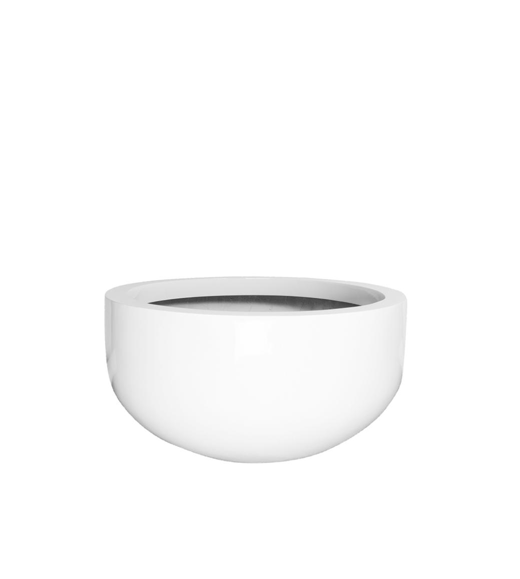 Weiße Pflanzkübel Manhattan - D128 cm