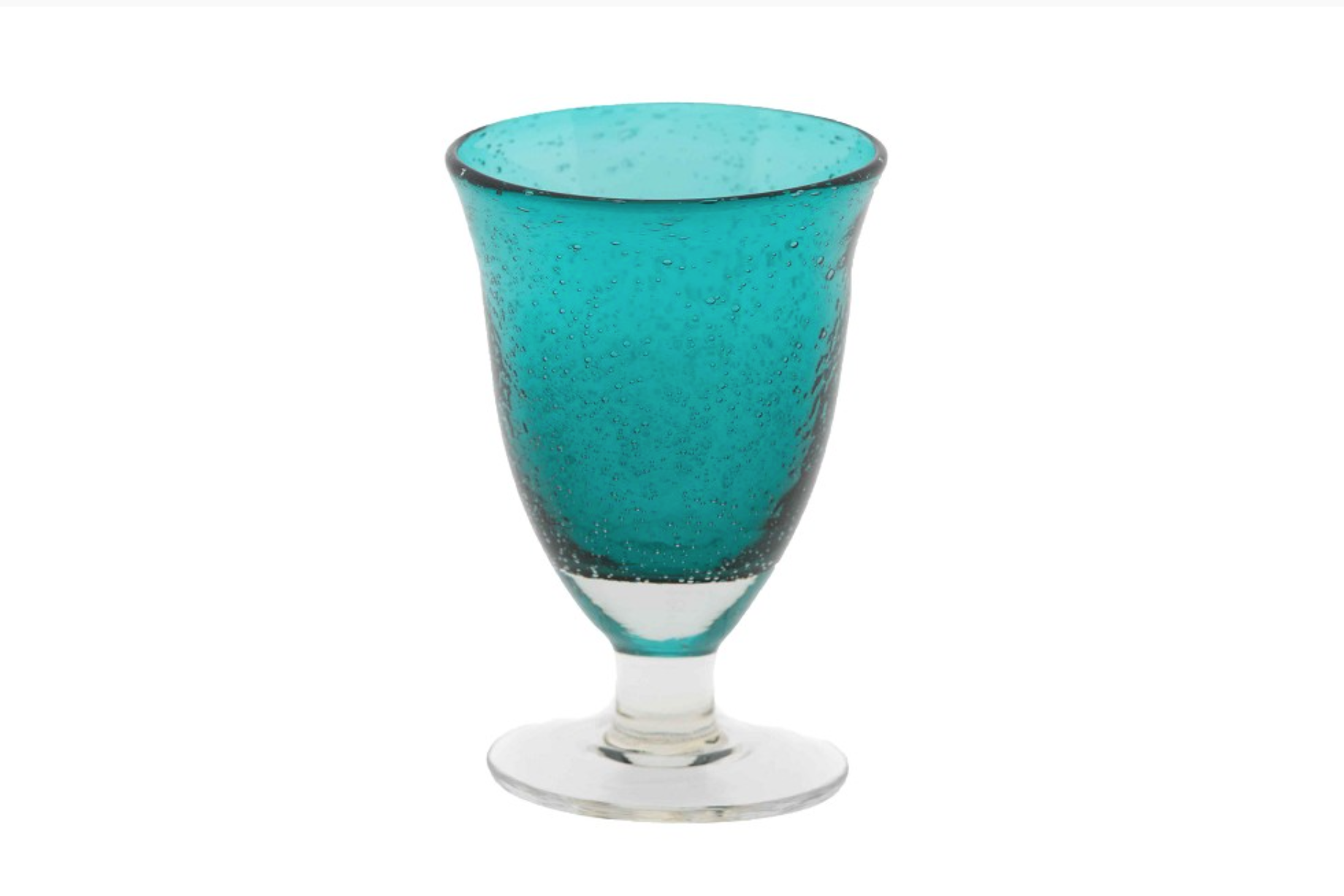 DutZ Glass on foot Teal - 4/ 6/ 8 pcs.