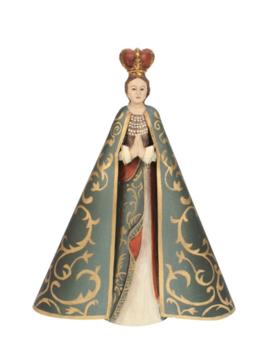 Mariabeeld in goud groen